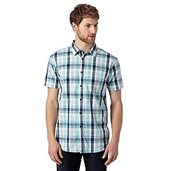 RJR.John Rocha - Big and tall designer aqua square checked shirt