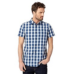 RJR.John Rocha - Big and tall designer navy checked short sleeved shirt