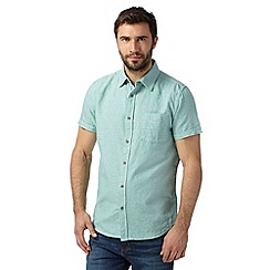 RJR.John Rocha - Designer pale green textured pocket shirt