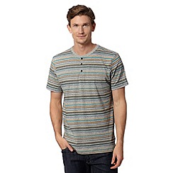 RJR.John Rocha - Designer grey specked striped grandad shirt