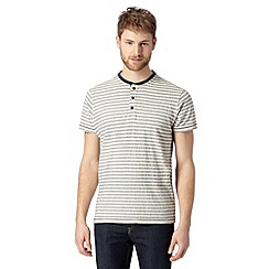 RJR.John Rocha - Big and tall designer off white striped henley top