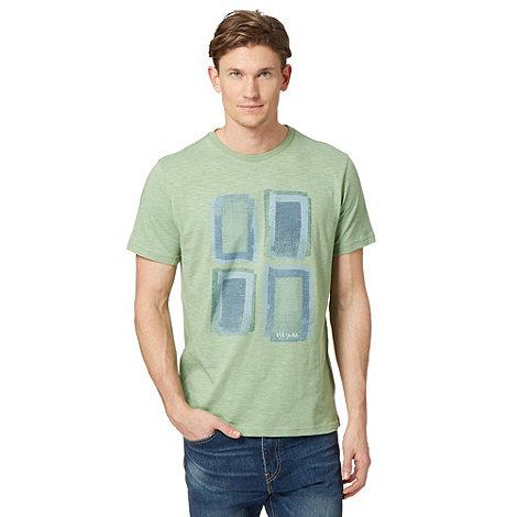 Rjr john rocha big and tall green square print t shirt for Big and tall printed t shirts