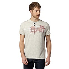 RJR.John Rocha - Big and tall designer light cream print chest t-shirt
