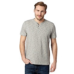 RJR.John Rocha - Big and tall designer grey grindle notch neck top