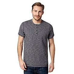 RJR.John Rocha - Big and tall designer navy grindle double collar t-shirt