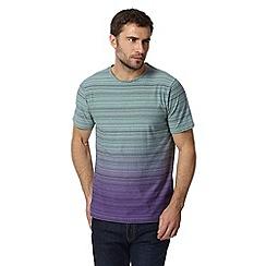 RJR.John Rocha - Designer green fine stripe dip dye t-shirt