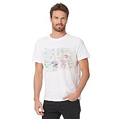 RJR.John Rocha - Big and tall designer white postcard print t-shirt