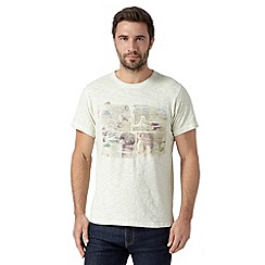 RJR.John Rocha - Designer off white postcards oil wash top