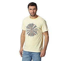 RJR.John Rocha - Designer pale yellow circle print t-shirt