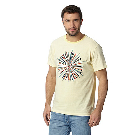 Rjr john rocha big and tall designer pale yellow circle for Big and tall printed t shirts