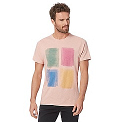 RJR.John Rocha - Big and tall designer light pink water patch print t-shirt