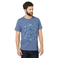 RJR.John Rocha - Big and tall designer blue triangle t-shirt