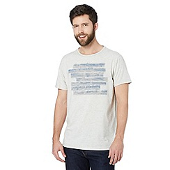RJR.John Rocha - Big and tall designer light grey ink applique t-shirt