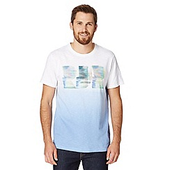 RJR.John Rocha - Big and tall designer white blurred lines logo t-shirt
