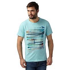 RJR.John Rocha - Designer light turquoise brushstroke t-shirt