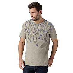 RJR.John Rocha - Big and tall designer natural falling feather print t-shirt