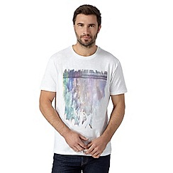 RJR.John Rocha - Big and tall designer white crayons print top