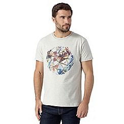 RJR.John Rocha - Big and tall designer cream stained glass circle print t-shirt