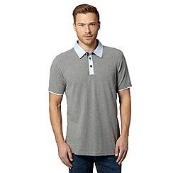 RJR.John Rocha - Designer grey herringbone marl polo shirt