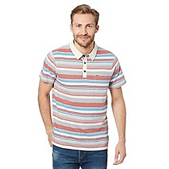 RJR.John Rocha - Designer cream striped polo shirt