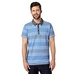 RJR.John Rocha - Designer blue simple striped polo shirt