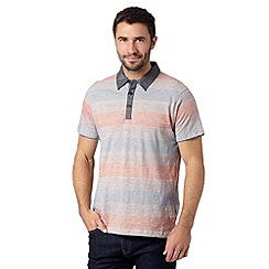 RJR.John Rocha - Big and tall designer dark pink simple stripe polo shirt