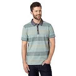RJR.John Rocha - Big and tall designer green simple striped polo shirt