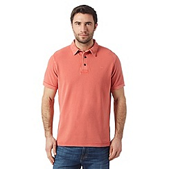 RJR.John Rocha - Designer red vintage wash dyed polo shirt