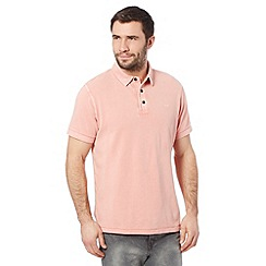 RJR.John Rocha - Big and tall designer light pink vintage wash dyed polo shirt