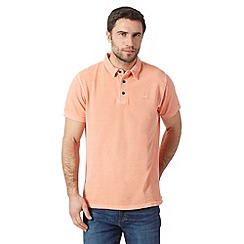 RJR.John Rocha - Big and tall designer orange vintage wash dyed polo shirt