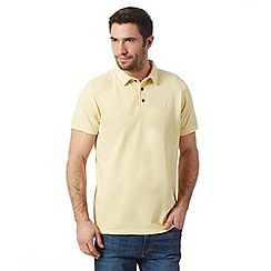 RJR.John Rocha - Designer yellow vintage wash dyed polo shirt