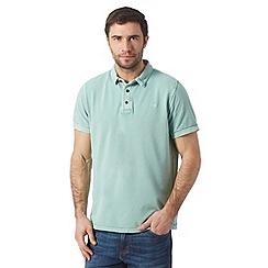 RJR.John Rocha - Big and tall designer green vintage wash dyed polo shirt