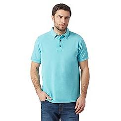 RJR.John Rocha - Big and tall designer aqua vintage wash dyed polo shirt