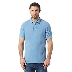 RJR.John Rocha - Big and tall designer blue vintage wash dyed polo shirt