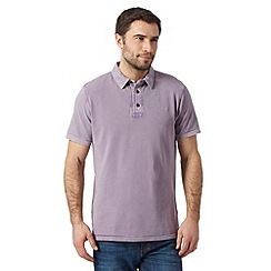 RJR.John Rocha - Designer purple vintage wash dyed polo shirt