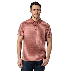 RJR.John Rocha - Designer pink textured striped polo top