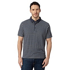 RJR.John Rocha - Big and tall designer navy striped polo shirt