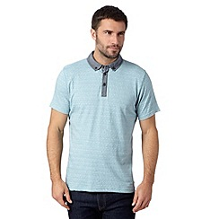 RJR.John Rocha - Big and tall designer pale green jacquard polo shirt