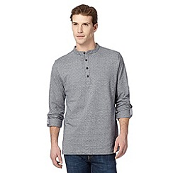 RJR.John Rocha - Big and tall designer grey spotted grandad shirt