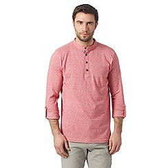 RJR.John Rocha - Big and tall designer pink square striped grandad shirt