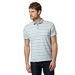 RJR.John Rocha - Designer light blue striped polo shirt