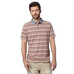 RJR.John Rocha - Big and tall designer orange marl striped polo shirt