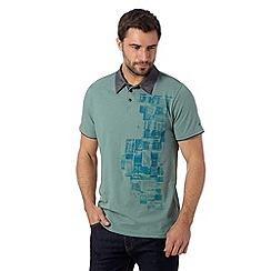 RJR.John Rocha - Designer aqua side print polo shirt