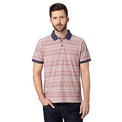 RJR.John Rocha - Big and tall designer pink fine striped polo shirt