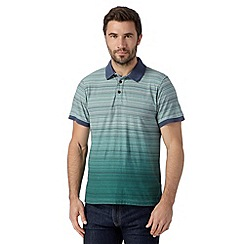 RJR.John Rocha - Big and tall designer green fine striped polo shirt