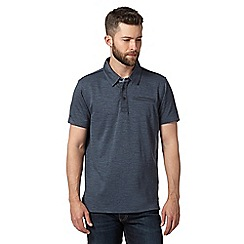 RJR.John Rocha - Big and tall designer navy textured jersey polo shirt