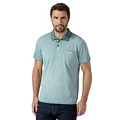 RJR.John Rocha - Big and tall designer green oil wash polo shirt