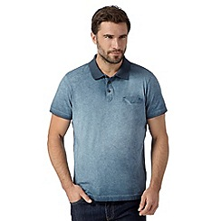 RJR.John Rocha - Big and tall designer blue oil wash polo shirt