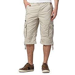 RJR.John Rocha - Big and tall designer natural three quarter length shorts