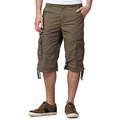 RJR.John Rocha - Big and tall designer khaki three quarter length shorts